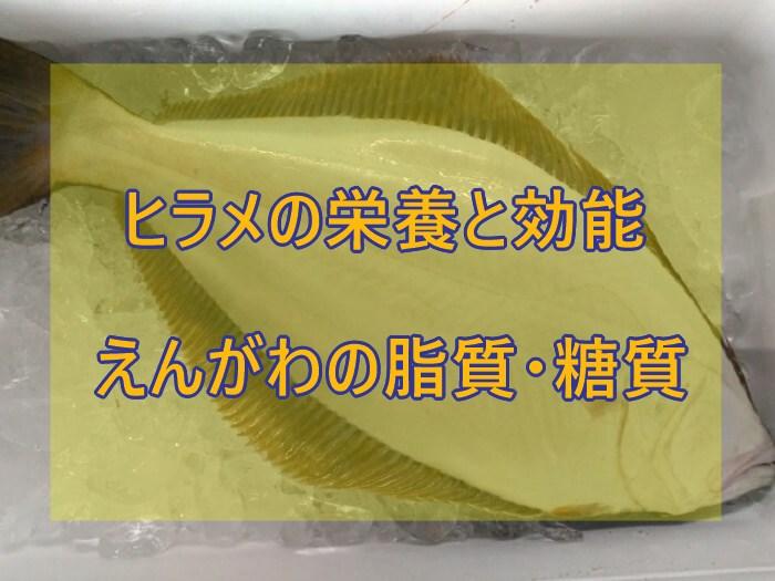 ヒラメ(鮃)の栄養と効能は?えんがわの脂質や糖質についても