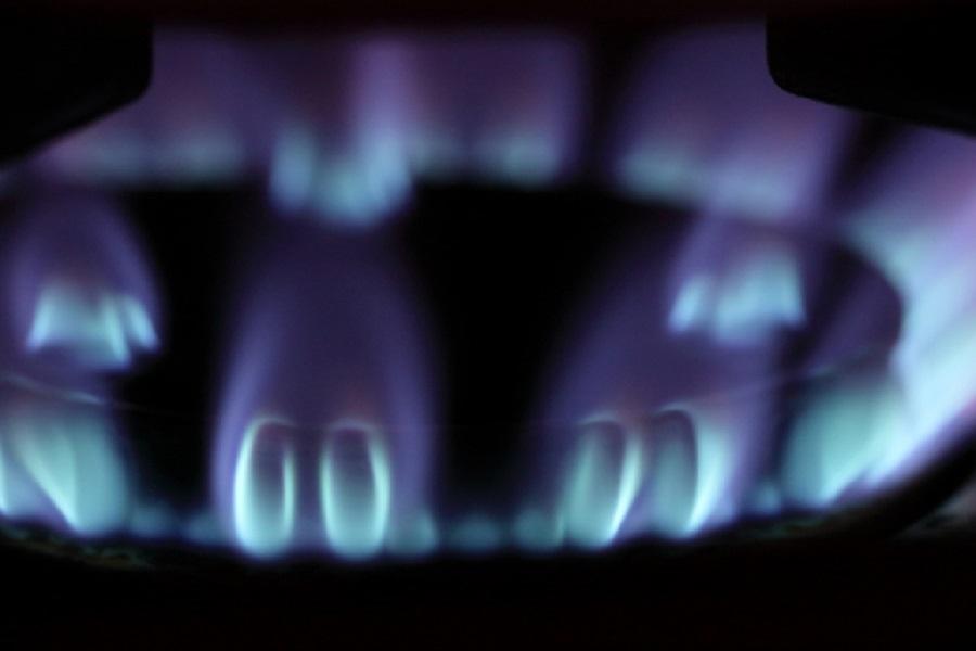 ガズコンロの青い火
