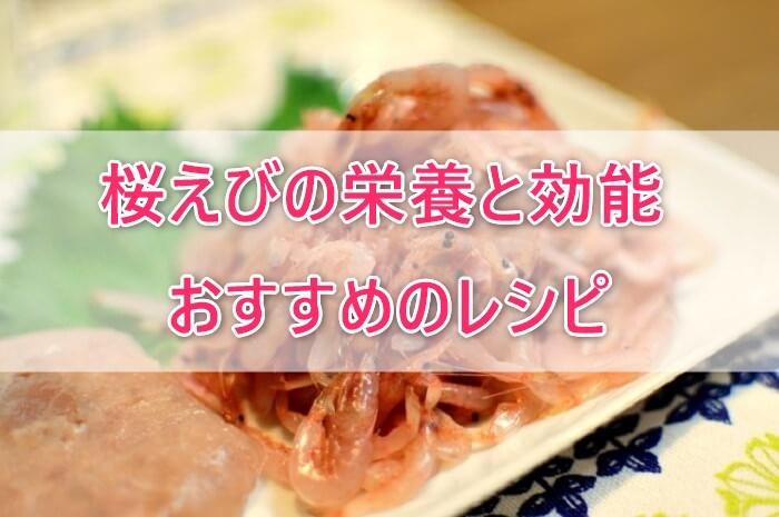 桜えびの栄養や期待できる効能は?栄養たっぷりレシピも紹介!