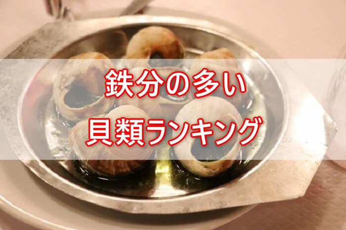 鉄分の多い貝類ランキングTOP10!貧血の予防・対策におすすめです