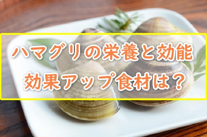 ハマグリの栄養と効能は?効果アップが期待できる食べ物は?